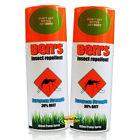 2x Ben's Insect Repellent European Protection Strength 30% Deet 100ml Pump Spray
