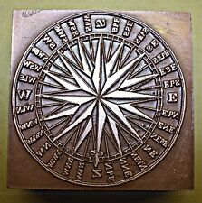 "A ""LARGE COMPASS"" PRINTING BLOCK."