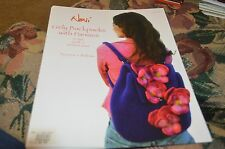Noni Felted Purse Bag Knitting Pattern 117 Girly Backpack with Pansies
