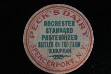 Spencerport, New York-Peck's Dairy-Rochester Standard Milk Bottle Cap bs76