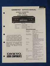 ONKYO TA-RW400 CASSETTE SERVICE MANUAL ORIGINAL FACTORY ISSUE THE REAL THING