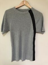 Grey & black knit top - size M