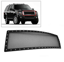 FORD 2007-2014 EXPEDITION MAIN UPPER STAINLESS STEEL RIVET MESH GRILLE GRILL NEW