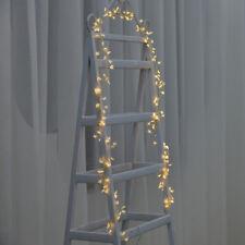 2M 120LED Cluster Warm White Stars Micro Fairy Lighting Xmas Garland Tree Flower