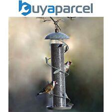 Peckish Secret Garden Spiral Decorative Metal Seed Wild Bird Hanging Feeder
