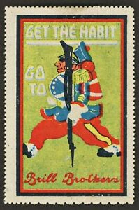 Brill Brothers Clothing Store - Maxfield Parrish US Advertising Poster Stamp MH