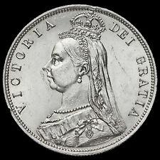 1887 Queen Victoria Jubilee Head Silver Half Crown, G/EF