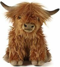 Living Nature Highland Cow Soft Toy With Sound 30cm - Ideal Christmas Gift idea