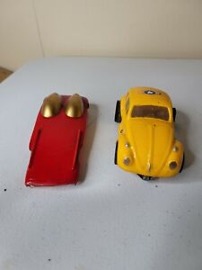 VINTAGE GARVIC SLOTCAR YELLOW PUNCH BUGGY AND RED BODY