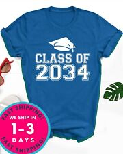 Class of 2034 shirt Funny First day of the school Kindergarten (Blue large size)
