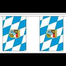 More details for bavaria flag bunting - 3m 6m 9m metre length 10 20 30 flags -  oktoberfest
