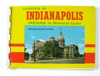 Indianapolis Indiana In Natural Color Postcard Pack Booklet Souvenir Vintage