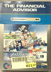 NIB The Financial Advisor C=64 Commodore Business Machines published cartridge