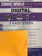 Jurassic Park 2 The Lost World Digital Code! no Blu-ray Or DVD Canada READ