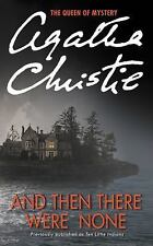 And Then There Were None Agatha Christie Paprerback Ten Little Indians