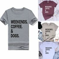 Women's Short Sleeve Loose Graphic Tee Summer Casual Blouse Top Letter T-Shirts