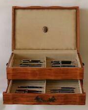 #819 HAND CRAFTED FOUNTAIN PEN STORAGE CUSTOM BUILT SOLID MAHOGANY DISPLAY CHEST