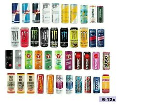 Red Bull,Monster,Lucozade,Coca Cola,Nocco,Suso,Emerge Energy Drink