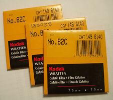 Kodak wratten GELATINA Filtro NO 82c 7.6cm OR 75mm Cuadrado