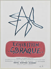 """""""Exhibition G. Braque 1956"""" by Georges Braque Signed Lithograph 10""""x7"""""""