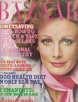 Harper's Bazaar Magazine February 1975 Pam Suthern Fashion Clothing