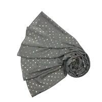 GREY Scarf STAR Print Summer/Rose/Gold/Metallic/Foil/Fashion/Ladies/Womens/NEW