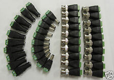5 Sets CAT5 to BNC Coaxial Video Balun plus 2.1mm Male Female DC Power Connector