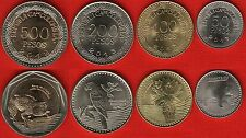 Colombia set of 4 coins: 50 - 500 pesos 2012-2013 UNC