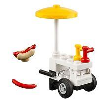 LEGO CITY HOTDOG VENDOR CART Bun Condiments Umbrella MINIFIGURE FOOD