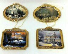 Hallmark Christmas Keepsake Ornaments Thomas Kinkade Collection 4 Lot
