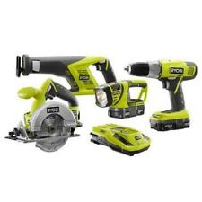 Ryobi Li-ion 18v Combo Kit P1872 Drill Circular Sawzall Light 2xp102 Batts
