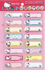 Hello Kitty Self-Laminating Name Sticker Seal Water- proof Index Label Tag Kids