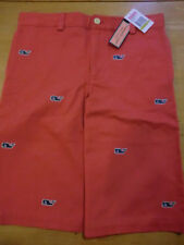"Vineyard Vines ""Embroidered Whale"" Club Shorts, NWT -Boys 14 - Youth Firecracker"