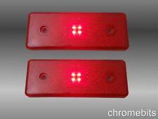 2 x 12 VOLTS 12V rouge latéral TIGE LED arrière Indicateur Feu REMORQUE VAN BUS