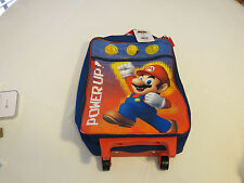 Super Mario Brothers Nintendo rolling bag luggage travel kids unisex blue red