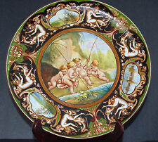 C.A.C.F. MAJOLICA HAND PAINTED CHARGER- BOUCHER