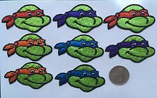 Teenage Mutant Ninja Turtles  iron-on patches lot of 8 pieces