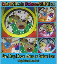 Cute Children's Bedroom Wall Clock Ideal For Nursery's Childs Bedroom New Sealed