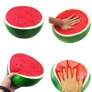 1Pc Giant jumbo soft watermelon squeeze toys slow rising stress reliever  Bi  LD