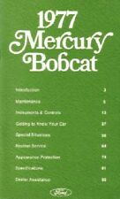 1977 Mercury Bobcat Owners Manual User Guide Reference Operator Book Fuses