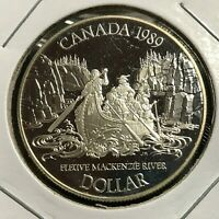 1989 CANADA SILVER DOLLAR MACKENZIE RIVER PROOF BRILLIANT UNCIRCULATED