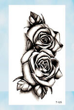 US Seller- flower rose temporary tattoo fake body tattoos