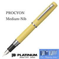 New Arrival!! Platinum PROCYON Fountain pen Citron yellow M-Nib PNS-5000#68-3