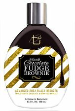 Black Chocolate Fudge Brownie Tanning Lotion with 200X Black Bronzer, 13.5 oz.