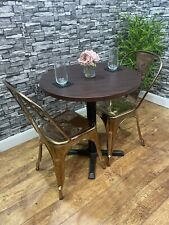 More details for heavy duty contract quality 700mm wenge round restaurant pub bar bistro table