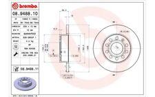 2x BREMBO Discos de Freno Traseros Pleno 256mm Para VOLKSWAGEN JETTA 08.9488.11
