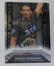 Benson Henderson Signed UFC 2013 Topps Finest Moments Card #FM-2 Autograph 144