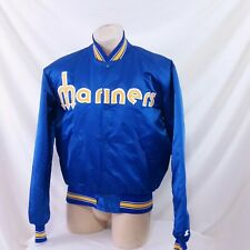 Vintage Seattle Mariners Starter Satin Jacket Throwback MLB Griffey 90s Coat XL