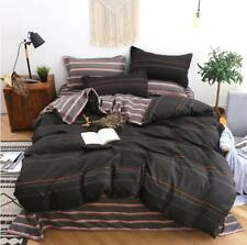 3D Schwarze Streifen NAM9362 Bett Kissenbezüge Decke Bettdecke Abdeckung Set Fay