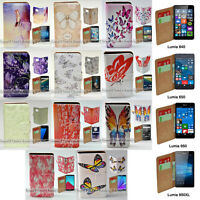 For Nokia Series - Butterflies Theme Print Theme Wallet Mobile Phone Case Cover